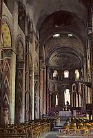 Europe/France/Auverne/63/Puy-de-Dôme/Issoire: La nef de l'abbatiale Saint-Austremoine