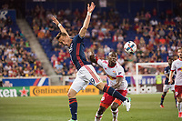 HARRISON, New Jersey - May 27, 2017: The New York Red Bulls take on the New England Revolution at home at Red Bull Arena during the 2017 MLS regular season.