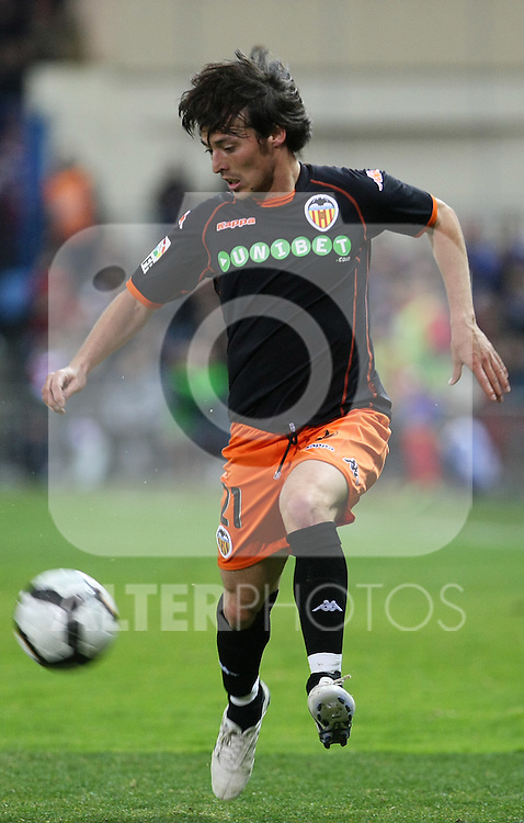 Valencia's David Jimenez Silva during La Liga match.(ALTERPHOTOS/Acero)