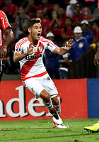 MEDELLIN – COLOMBIA: 15 – 03 - 2017: Lucas Martinez, jugador de River Plate, celebra el gol anotado a Deportivo Independiente Medellin, durante partido de la fase de grupos, grupo 3, fecha 1 entre Deportivo Independiente Medellin de Colombia y River Plate de Argentina por la Copa Conmebol Libertadores Bridgestone 2017 en el Estadio Atanasio Girardot, de la ciudad de Medellin. / Lucas Martinez, player River Plate, celebrates the goal scored to Deportivo Independiente Medellin, during a match for the group stage, group 3 of the date 1, between Deportivo Independiente Medellin of Colombia and River Plate of Argentina for the Conmebol Libertadores Bridgestone Cup 2017, at the Atanasio Girardot, Stadium, in Medellin city. Photos: VizzorImage / Luis Ramirez / Staff.
