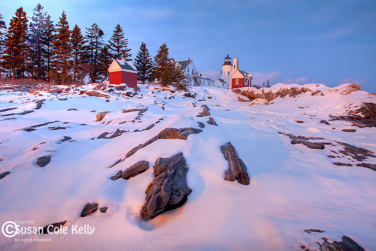 Winter at Pemaquid Point Light, Bristol, ME, USA