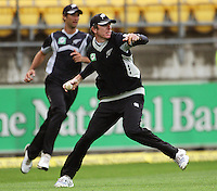 NZ's Iain O'Brien fields during the 2nd ODI cricket match between the New Zealand Black Caps and India at Westpac Stadium, Wellington, New Zealand on Friday, 6 March 2009. Photo: Dave Lintott / lintottphoto.co.nz