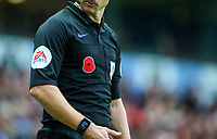 A poppy is seen on the uniform of an assistant referee<br /> <br /> Photographer Alex Dodd/CameraSport<br /> <br /> The EFL Sky Bet Championship - Blackburn Rovers v Rotherham United - Saturday 10th November 2018 - Ewood Park - Blackburn<br /> <br /> World Copyright &copy; 2018 CameraSport. All rights reserved. 43 Linden Ave. Countesthorpe. Leicester. England. LE8 5PG - Tel: +44 (0) 116 277 4147 - admin@camerasport.com - www.camerasport.com
