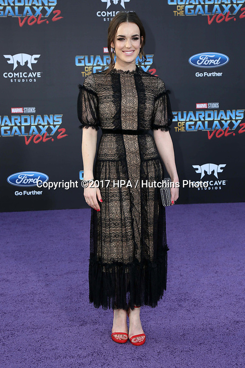 """LOS ANGELES - APR 19:  Elizabeth Henstridge at the """"Guardians of the Galaxy Vol. 2"""" Los Angeles Premiere at the Dolby Theater on April 19, 2017 in Los Angeles, CA"""