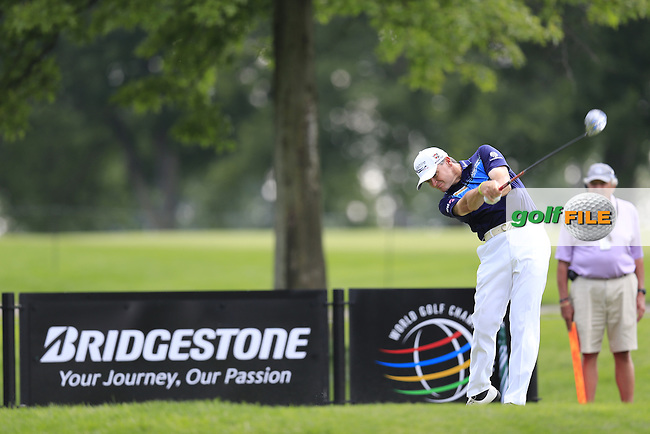 Paul Lawrie (SCO) tees off the 9th tee during Thursday's Round 1 of the 2013 Bridgestone Invitational WGC tournament held at the Firestone Country Club, Akron, Ohio. 1st August 2013.<br /> Picture: Eoin Clarke www.golffile.ie