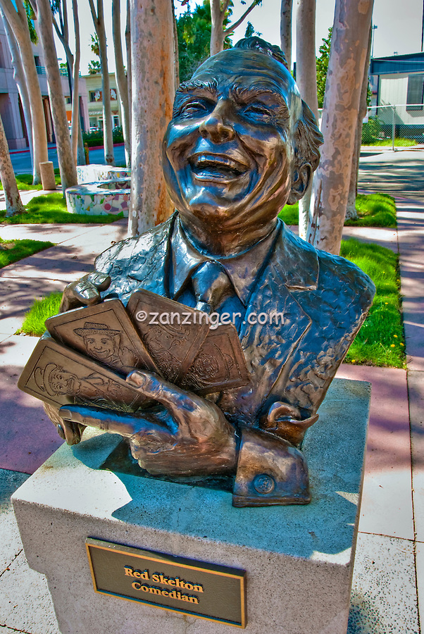 Red Skelton, Comedian, Academy of Television Arts & Sciences, Celebrity, Bronze, Sculptures, Sculptural Works, Public Art, Display, North Hollywood, CA