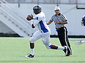 Armwood Hawks quarterback Darryl Richardson #6 scrambles looking to pass during the second quarter of the Florida High School Athletic Association 6A Championship Game at Florida's Citrus Bowl on December 17, 2011 in Orlando, Florida.  The score at halftime is Armwood 16 - Miami Central 14.  (Photo By Mike Janes Photography)