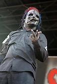 Slipknot Performs on Ozzfest 2005 for The Subliminal Verses World Tour (2004–2005).(#8) Corey Taylor – lead vocals,.Photo Credit: Eddie Malluk/AtlasIcons.com