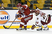 Ryan Grimshaw (Harvard - 6), Matt Lombardi (BC - 24) - The Boston College Eagles defeated the Harvard University Crimson 6-0 on Monday, February 1, 2010, in the first round of the 2010 Beanpot at the TD Garden in Boston, Massachusetts.