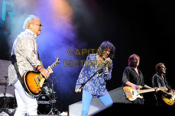 LONDON, ENGLAND - APRIL 13: Mick Jones, Kelly Hansen, Jeff Pilson and Thom Gimbel of Foreigner performing at the Eventim Apollo on April 13, 2014 in London, England.<br /> CAP/MAR<br /> &copy; Martin Harris/Capital Pictures