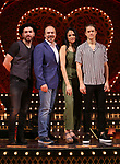 "Tam Mutu, Danny Burstein, Karen Olivio and Aaron Tveit from ""Moulin Rouge!"" The Broadway Musical at the Al Hirschfeld Theatre on July 9, 2019 in New York City."