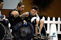 Cody Everson in action during the 2017 International Wheelchair Rugby Federation Asia-Oceania Zone Championships tournament match between the New Zealand Wheel Blacks and Japan at ASB Stadium in Auckland, New Zealand on Thursday, 31 August 2017. Photo: Dave Lintott / lintottphoto.co.nz