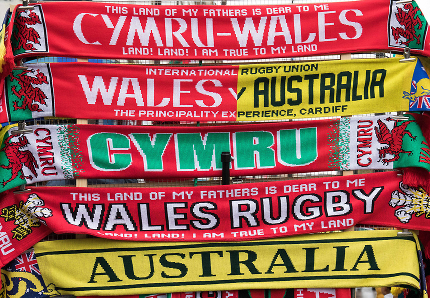 A general view of Principality Stadium, home of Wales scarfs for sale<br /> <br /> Photographer Simon King/CameraSport<br /> <br /> International Rugby Union - 2017 Under Armour Series Autumn Internationals - Wales v Australia - Saturday 11th November 2017 - Principality Stadium - Cardiff<br /> <br /> World Copyright &copy; 2017 CameraSport. All rights reserved. 43 Linden Ave. Countesthorpe. Leicester. England. LE8 5PG - Tel: +44 (0) 116 277 4147 - admin@camerasport.com - www.camerasport.com