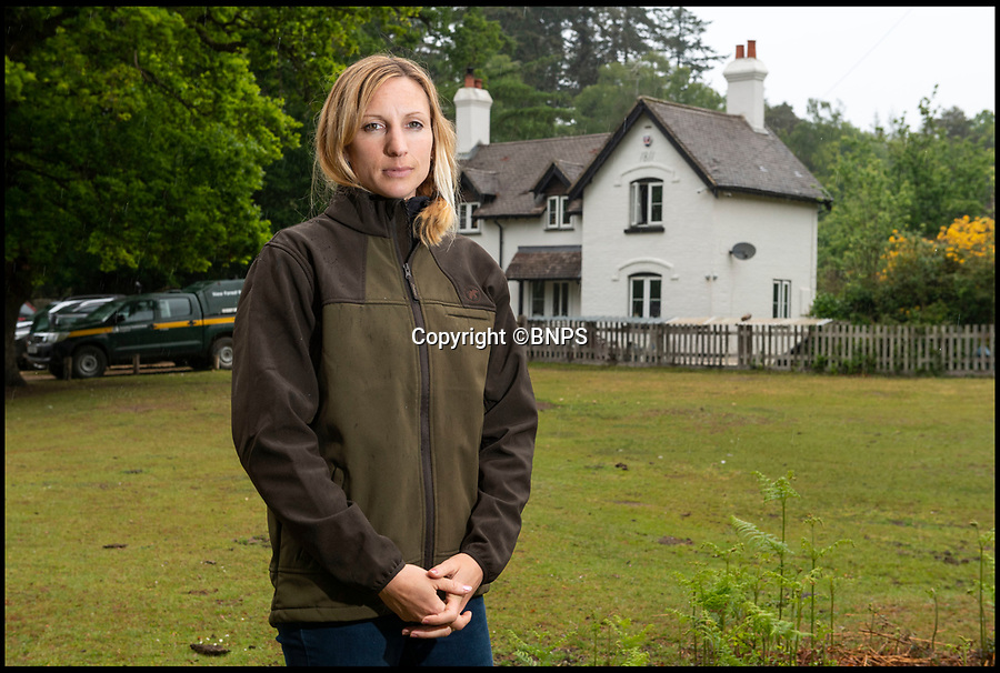 BNPS.co.uk ()1202 558833)<br /> Pic: PhilYeomans/BNPS<br /> <br /> Commoner Erica Dovey(37) in front of a New Forest commoners cottage.<br /> <br /> A David and Goliath struggle is developing in the ancient New Forest between its Commoners, whose rights date back to the 13th century, and Forestry England.<br /> <br /> A public body has been accused of threatening the future of the New Forest by charging 'extortionate' rents to young commoners who help to maintain it.<br /> <br /> Forestry England has come under fire for charging full market rents on 65 Crown properties which, for over a century, have been set aside for commoners, the group of people with ancient rights to graze ponies and cattle in the Hampshire national park.<br /> <br /> Monthly rents which ranged from £300 to £500 have shot up to between £1,450 and £2,000, making them 'completely unaffordable' for commoners, it is claimed.<br /> <br /> As a result, it is feared a 'whole generation' of young commoners will be forced to leave the forest, with 'lasting consequences' for the conservation of the precious landscape.<br /> <br /> The rent increases have been imposed despite the government stipulating they could only be set at 15 per cent of a commoners' monthly income in the Illingworth Report (1992), according to the New Forest Commoners Defence Association.