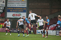 Matt Smith (Bristol) clears<br />  - Scunthorpe United vs Bristol City - Sky Bet League One Football at Glanford Park, Scunthorpe, Lincolnshire - 17/01/15 - MANDATORY CREDIT: Mark Hodsman/TGSPHOTO - Self billing applies where appropriate - contact@tgsphoto.co.uk - NO UNPAID USE