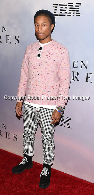 Pharrell Williams attends &quot;Hidden Figures&quot; Special Screening on December 10, 2016 at SVA Theatre in New York, New York, USA.<br /> <br /> photo by Robin Platzer/Twin Images<br />  <br /> phone number 212-935-0770