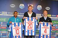 VOETBAL: HEERENVEEN: Abe Lenstra Stadion, 02-02-2015, nieuwe spelers SC Heerenveen, Lerin Duarte, Henk Veerman, Robert van Koesveld, ©foto Martin de Jong
