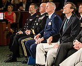 ?, Major General Karl Horst, Colonel David Almand, ? - The 2012 Hobey Baker Award ceremony was held at MacDill Air Force Base on Friday, April 6, 2012, in Tampa, Florida.