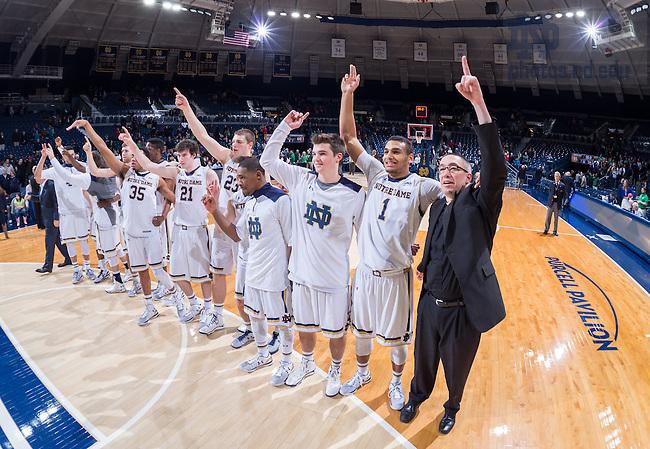 Dec. 22, 2014; Rev. Pete McCormick, C.S.C., Men's Basketball team chaplain. (Photo by Matt Cashore)