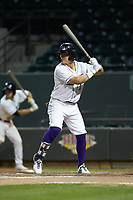 Steele Walker (6) of the Winston-Salem Dash at bat against the Lynchburg Hillcats at BB&T Ballpark on May 9, 2019 in Winston-Salem, North Carolina. The Dash defeated the Hillcats 4-1. (Brian Westerholt/Four Seam Images)