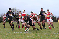 Romford have a try disallowed Epping Upper Clapton RFC vs Romford & Gidea Park RFC, London 2 North East Division Rugby Union at Upland Road on 6th January 2018