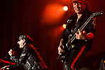 May 6, 2016. Concord, North Carolina. <br /> (from left)  Klaus Meine and Matthias Jabs of The Scorpions closed out the opening night of the Carolina Rebellion.<br />  The 2016 Carolina Rebellion was held over May 6-8 next to the Charlotte Motor Speedway and featured over 50 bands including headliners Lynyrd Skynyrd, The Scorpions, Five Finger Death Punch, Disturbed, and Rob Zombie.