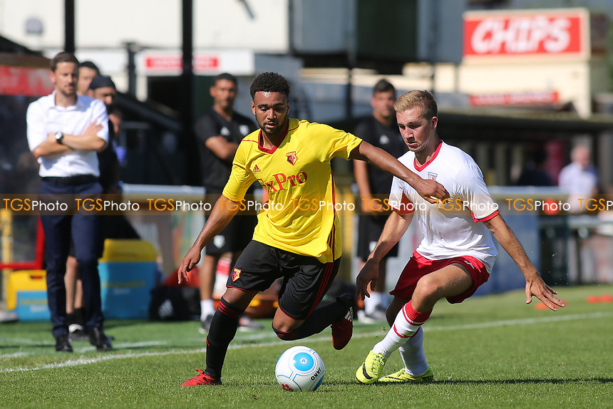 Ash Charles of Watford in possession during Woking vs Watford, Friendly Match Football at The Laithwaite Community Stadium on 8th July 2017
