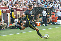 Landover, MD - August 4, 2018: Juventus forward Federico Bernardeschi (33) kicks the ball during the match between Juventus and Real Madrid at FedEx Field in Landover, MD.   (Photo by Elliott Brown/Media Images International)