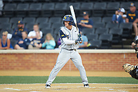 Kyle Gray (9) of the West Virginia Mountaineers at bat against the Wake Forest Demon Deacons in Game Six of the Winston-Salem Regional in the 2017 College World Series at David F. Couch Ballpark on June 4, 2017 in Winston-Salem, North Carolina. The Demon Deacons defeated the Mountaineers 12-8. (Brian Westerholt/Four Seam Images)