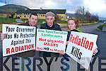 Kevin Griffin, Willie Griffin and Clara Leahy, Glenbeigh Residents against Health Hazards, who led a protest against the proposed building af a mobile phone mast within the one kilometre radius of Glenbeigh National School on Friday...
