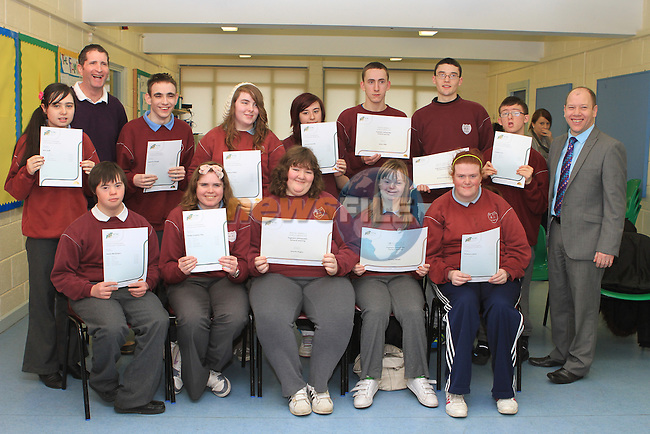 Presentation of the FETAC Awards in St.Itas School...(Photo credit should read Jenny Matthews www.newsfile.ie)....