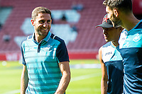 Angel Rangel of Swansea City arrives at St. Mary's prior to the Premier League match between Southampton and Swansea City  at St Mary's Stadium in Southampton, England, UK. Saturday 17 September 2016