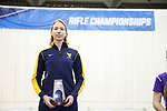 COLUMBUS, OH - MARCH 11:  Milica Babic, of West Virginia University, stands with her individual national champion trophy during the Division I Rifle Championships held at The French Field House on the Ohio State University campus on March 11, 2017 in Columbus, Ohio. Babic won the individual championship with a score of 208.1. (Photo by Jay LaPrete/NCAA Photos via Getty Images)