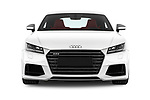 Car photography straight front view of a 2016 Audi TTS - 2 Door coupe Front View
