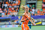 The Hague, Netherlands, June 14: Maartje Paumen #17 of The Netherlands in action during the field hockey gold medal match (Women) between Australia and The Netherlands on June 14, 2014 during the World Cup 2014 at Kyocera Stadium in The Hague, Netherlands. Final score 2-0 (2-0)  (Photo by Dirk Markgraf / www.265-images.com) *** Local caption ***