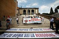 Manifestazione di NCD, Nuovo Centrodestra<br /> Roma 23-06-2015 Campidoglio, Manifestazione per chiedere le dimissioni di Ignazio Marino da sindaco.<br /> Photo Samantha Zucchi Insidefoto