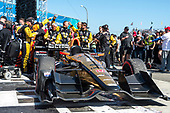 2017 Verizon IndyCar Series<br /> Toyota Grand Prix of Long Beach<br /> Streets of Long Beach, CA USA<br /> Sunday 9 April 2017<br /> James Hinchcliffe celebrates in victory lane<br /> World Copyright: Gavin Baker/LAT Images
