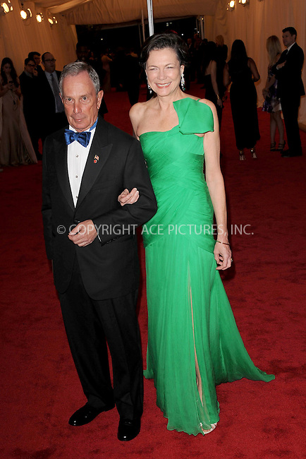 """WWW.ACEPIXS.COM . . . . . .May 7, 2012...New York City....Mayor Michael Bloomberg and Diana Taylor attending the """"Schiaparelli and Prada: Impossible Conversations"""" Costume Institute Gala at The Metropolitan Museum of Art in New York City on May 7, 2012  in New York City ....Please byline: KRISTIN CALLAHAN - ACEPIXS.COM.. . . . . . ..Ace Pictures, Inc: ..tel: (212) 243 8787 or (646) 769 0430..e-mail: info@acepixs.com..web: http://www.acepixs.com ."""