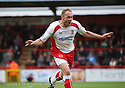 Charlie Griffin of Stevenage Borough celebrates scoring against his former club after getting the second goal during the Blue Square Premier match between Stevenage Borough and Salisbury City at the Lamex Stadium, Broadhall Way, Stevenage on 17th October, 2009.© Kevin Coleman 2009 .