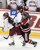 Kristyn Capizzano (BC - 7), Brittany Esposito (NU - 7) - The Boston College Eagles defeated the Northeastern University Huskies 3-0 on Tuesday, February 11, 2014, to win the 2014 Beanpot championship at Kelley Rink in Conte Forum in Chestnut Hill, Massachusetts.