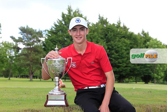 Adrien Pendaries (France) winner of the 2015 Irish Boys Amateur Open Championship, Tuam Golf Club, Tuam, Co Galway. 26/06/2015<br /> Picture: Golffile   Fran Caffrey