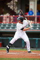 Erie Seawolves first baseman James Robbins (21) at bat during a game against the Richmond Flying Squirrels on May 19, 2015 at Jerry Uht Park in Erie, Pennsylvania.  Richmond defeated Erie 8-5.  (Mike Janes/Four Seam Images)