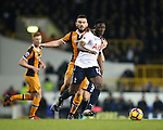 Tottenham's Victor Wanyama tussles with Hull's Robert Snodgrass during the Premier League match at White Hart Lane Stadium, London. Picture date December 14th, 2016 Pic David Klein/Sportimage