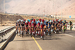 The peleton les by Team Katusha-Alpecin during Stage 3 of the 2018 Tour of Oman running 179.5km from German University of Technology to Wadi Dayqah Dam. 15th February 2018.<br /> Picture: ASO/Muscat Municipality/Kare Dehlie Thorstad | Cyclefile<br /> <br /> <br /> All photos usage must carry mandatory copyright credit (&copy; Cyclefile | ASO/Muscat Municipality/Kare Dehlie Thorstad)