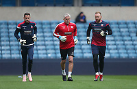Bolton Wanderers' Ben Alnwick and Remi Matthews warm-up prior to kick-off<br /> <br /> Photographer Rob Newell/CameraSport<br /> <br /> The EFL Sky Bet Championship - Millwall v Bolton Wanderers - Saturday 24th November 2018 - The Den - London<br /> <br /> World Copyright &copy; 2018 CameraSport. All rights reserved. 43 Linden Ave. Countesthorpe. Leicester. England. LE8 5PG - Tel: +44 (0) 116 277 4147 - admin@camerasport.com - www.camerasport.com