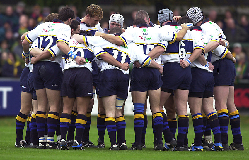 Photo. Richard Lane. .Northampton v Leinster. Heineken Cup. 21/10/2000..Leinster team.