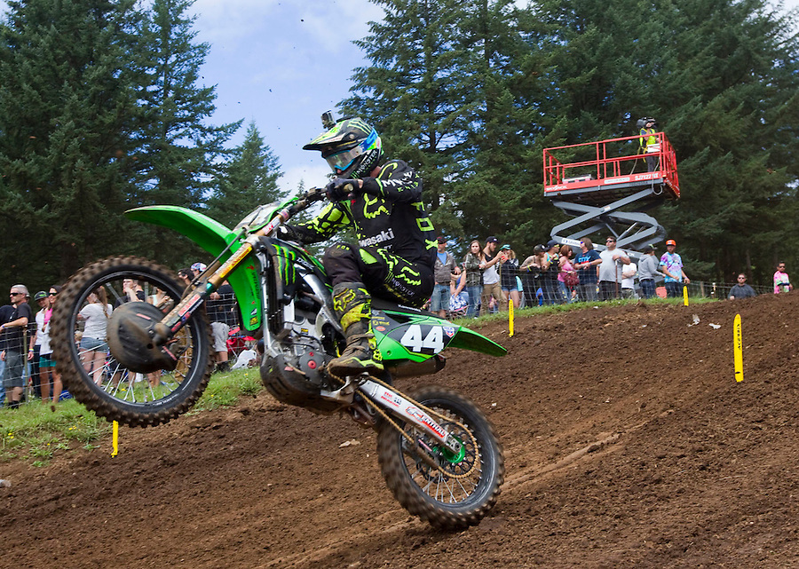 Adam Cianciarulo rides in the Washougal MX National in Washougal MX Saturday July 23, 2016. D(Photo by Natalie Behring/ for the The Columbian)