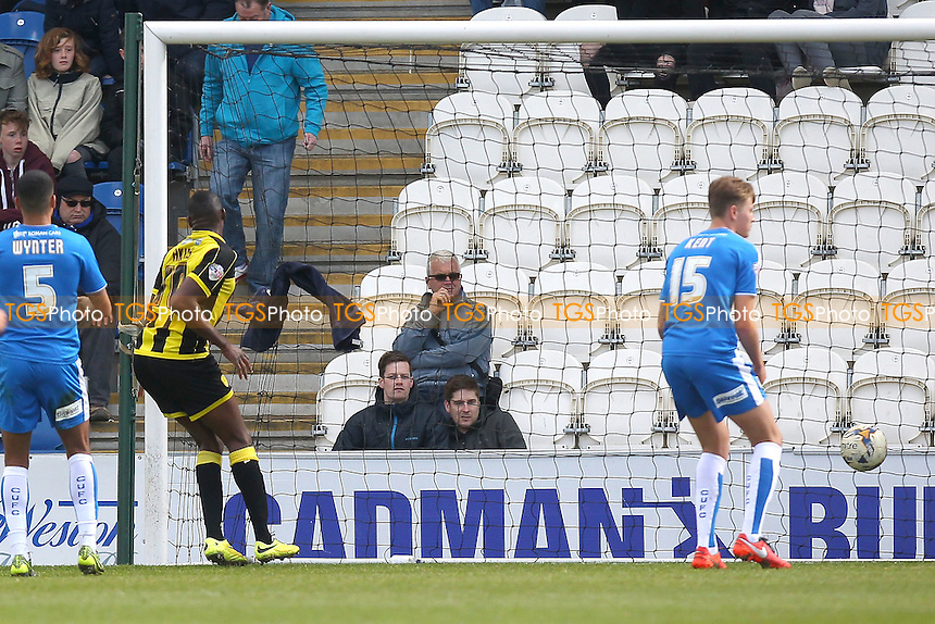 Lucas Akins of Burton Albion scores the first goal for his team during Colchester United vs Burton Albion, Sky Bet League 1 Football at the Weston Homes Community Stadium on 23rd April 2016