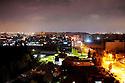 Iraq 2008.Erbil by night, view on the citadel.. Irak 2008. Vue sur Erbil et sa citadelle, la nuit