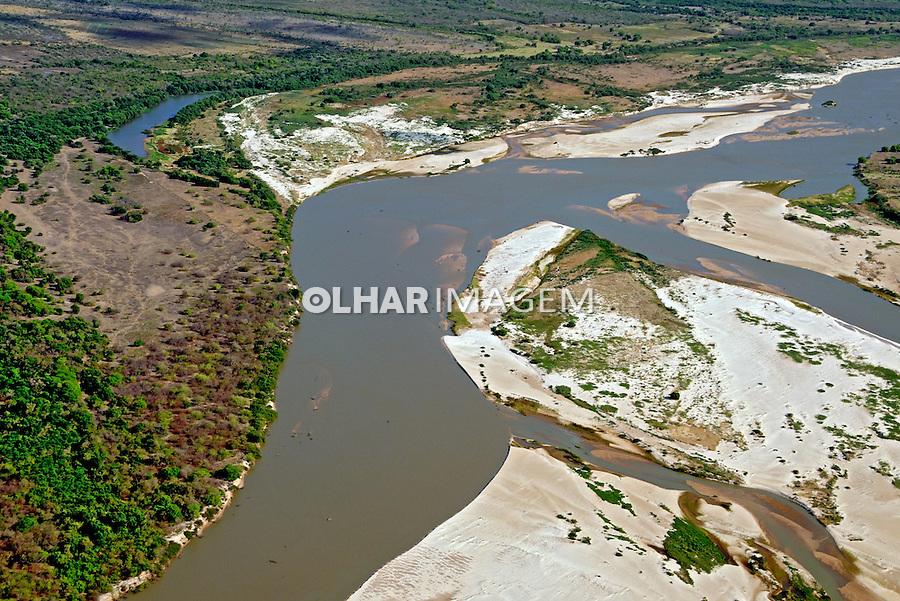 Aérea do Rio Parnaíba em Buriti dos Lopes. Piauí, 2009. Foto de Zig Koch.